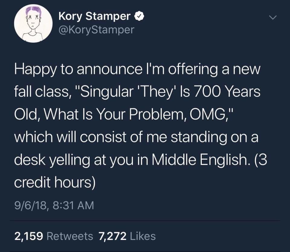 The Singular They